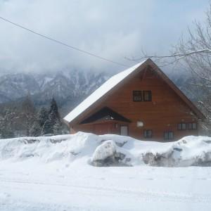 冬の戸隠山を望む